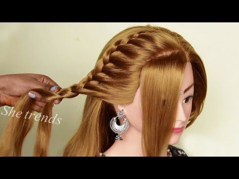 Easy Quick Beautiful Hairstyles For Girls New Year Party Hairstyles 2020 Hair Styl In 2020 Wedding Party Hairstyles Easy And Beautiful Hairstyles Girl Hairstyles