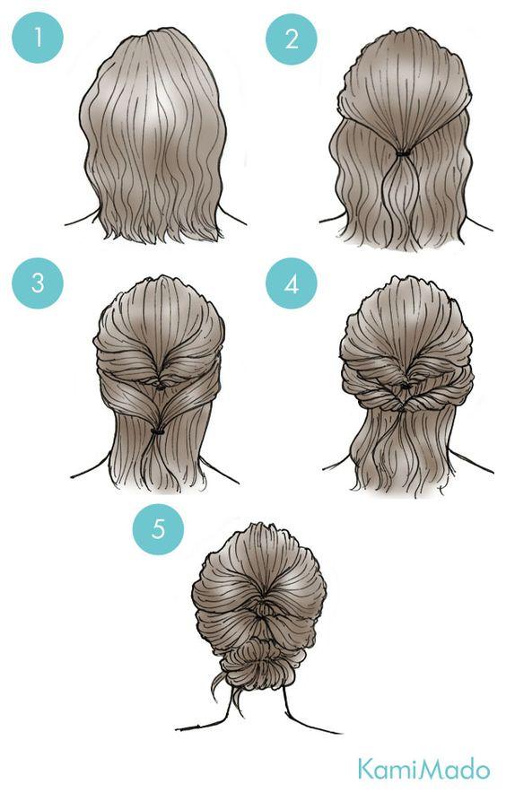 Tutorial de penteado fácil para fazer sozinha e arrasar. Coque lindo e trabalhado de forma simples.: