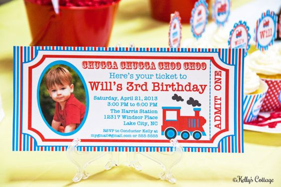 Vintage Train Ticket Photo Invitation... by KellysCottageShoppe, $11.00