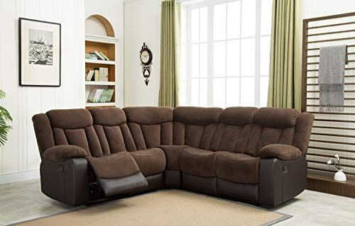 Esofastore Casual Classic Look Sectional Sofa Set Dark Brown Two Tone Upholstered L Shaped S Fabric Sectional Sofas Sectional Sofa Sectional Sofa With Recliner
