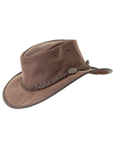Barmah Foldaway Bronco Hat - Dark Brown