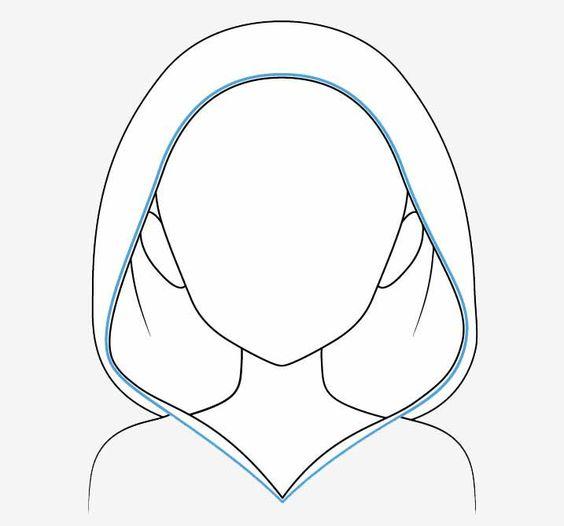 Xóa những chi tiết của đầu/tóc mà bị mũ trùm đầu che lại.
