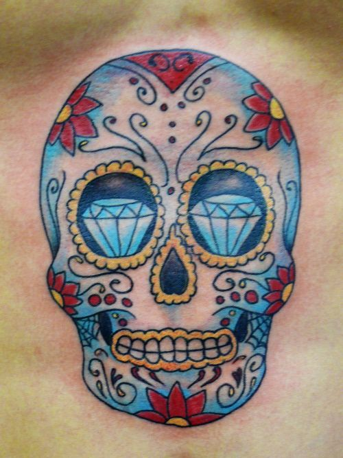 Awesome tattoo teschi colorati ux81 pineglen for Teschi messicani femminili