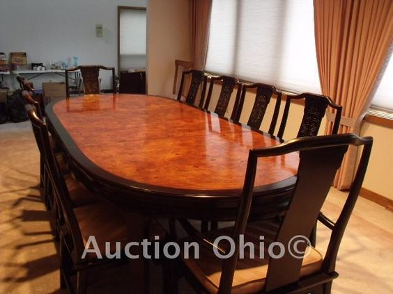 High end quality vintage dining room set by century for High quality dining room furniture