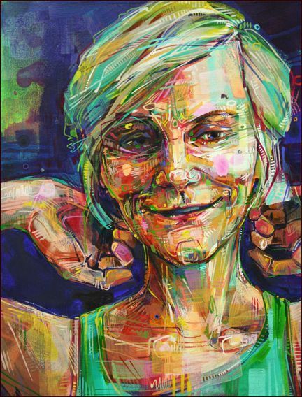 """Gwenn Seemel's self portrait for the show """"A Somewhat Secret Place,"""" which focuses on disability.  Seemel is an artist who promotes endometriosis awareness through her amazing work, pinned from http://www.gwennseemel.com/index.php/blog/comments/a_somewhat_secret_place/#"""
