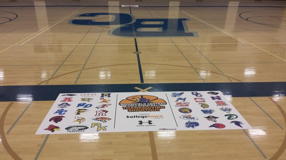 great non slip sports graphic application on basketball court