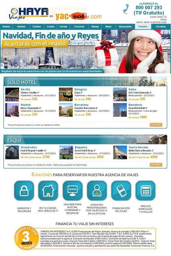 Estas navidades regala experiencias, vive experiencias ¿ a qué esperas? haya travel en Yecla y www.yacsol.com te lo ponen muy fácil, no esperes más !!!