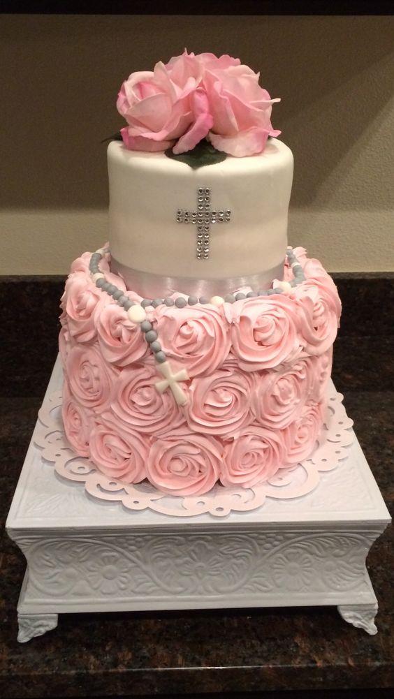 Babtism cake for girl