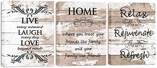 Great For Visual Art Decor Sweet Home Love Life Quotes On Rustic Brown And Beige Wood Textured Backg In 2020 Wall Art Canvas Prints Framed Wall Art Living Room Kitchen