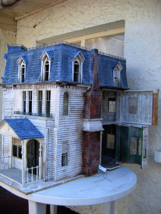 Best Old Doll House With Blue Mansard Roof When French 400 x 300
