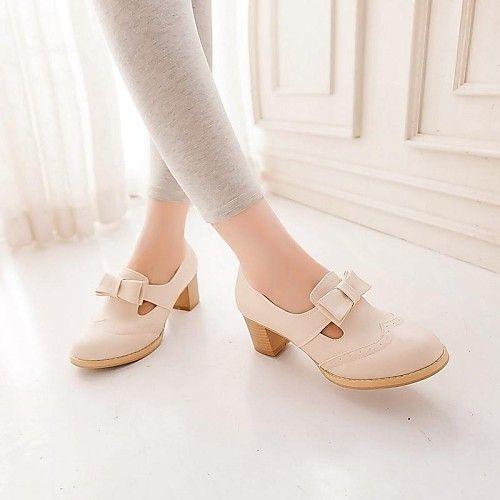 Czolenka Spilki Obuwie Damskie Zaokraglony Czubek Gruby Obcas Niebieski Rozowy Bezowy Derma Formalne S Chunky Heel Pumps Pump Shoes Women Shoes