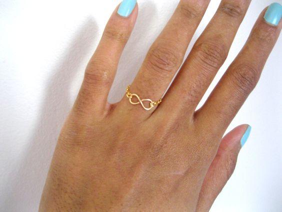 Forever Ring, Infinity Ring, Valentine's Day. $15.00, via Etsy.