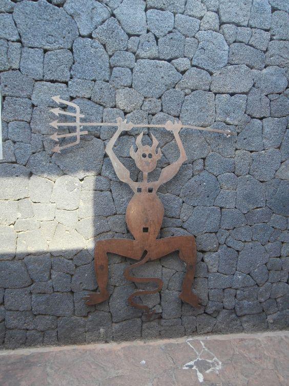 le Diable emblème de  l'Ile de Lanzarotte (Canaries)