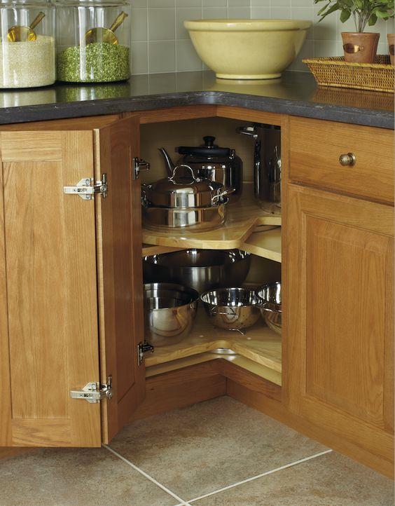 Kitchen Counters Cupboards And Lazy Susan On Pinterest