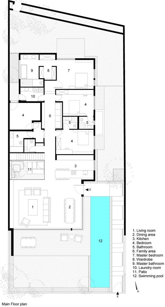 Gallery Of House F A M N Architecture 41 Floor Plans House Blueprints Architecture