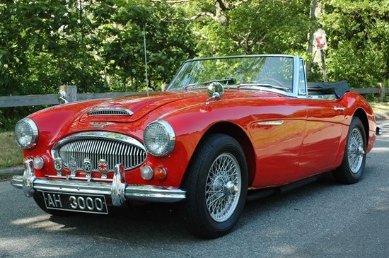 Classic Austin Healey Vintage English Sports Car Exotic