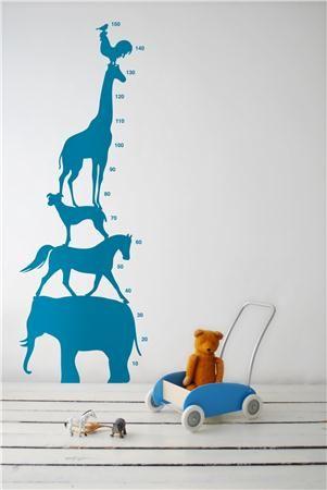 Sticker mural - animal tower bleu
