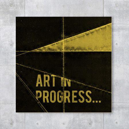 Placa decorativa - Art in progress
