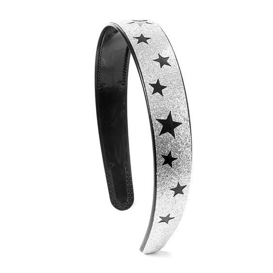 Silver Glitter with Black Stars Headband | Claire's