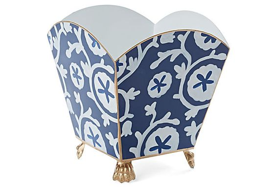 "6"" Ramoshka Footed Cachepot, Navy on OneKingsLane.com"