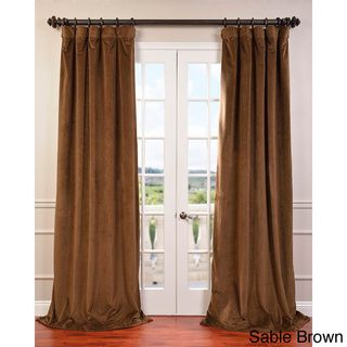 "@Overstock - Signature Velvet 96-inch Blackout Curtain Panel -  one panel 50"" wide, gunmetal grey CAD              132.37"