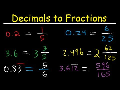simplest form decimal  Decimals to Fractions In Simplest Form - Improper Fractions ...