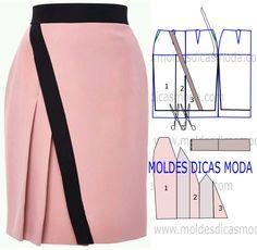 Antes de começarem o trabalho sugiro que analisem a execução do molde de saia rosa, que está explicada com grande rigor, em pormenor no desenho.