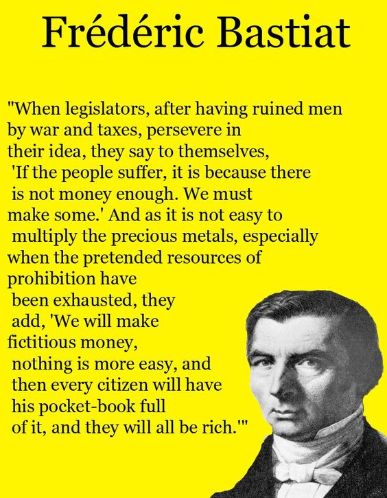 government = stupidity..how could Bastiat be so smart back then and not so much now?? He was the Ron Paul of his era, if not more.