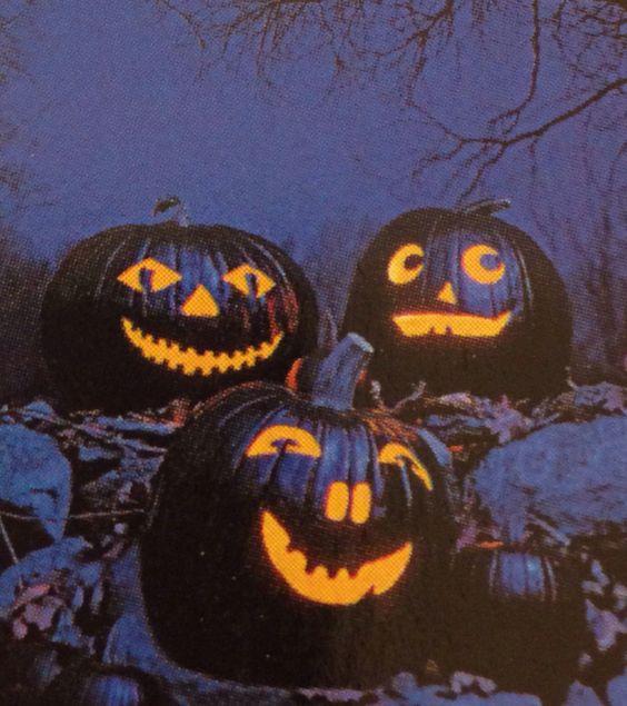 Carved black pumpkins.. Love this idea