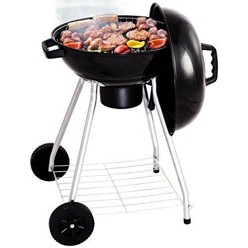 Costway Kettle Grill Portable Bbq Barbecue Charcoal With Wheels Round Standard Party Camping Garden Outdoor With Images Cleaning Bbq Grill Best Charcoal Grill Charcoal Bbq