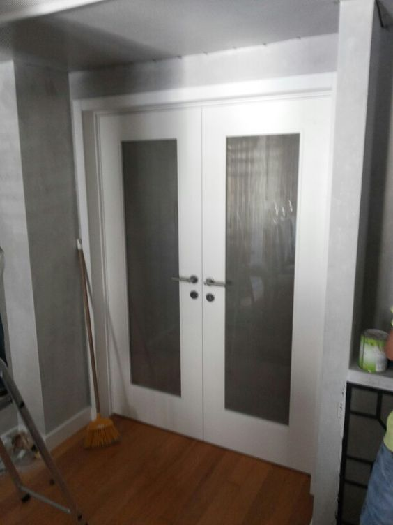 Rede inox interior das portas