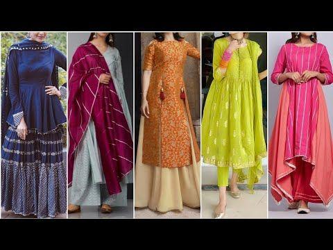 New Stylish Plain Suits Ideas 2019 Plain Suit With Dupatta Combination Punjabi Plain Suit Design Youtube Dress Neck Designs Stylish Fashion