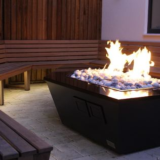 Stealth Boat Fire Table - Southampton : Fire pits & barbecues by Rivelin