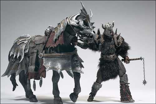 Spawn Horse Thunderhoof and his rider Bloodaxe