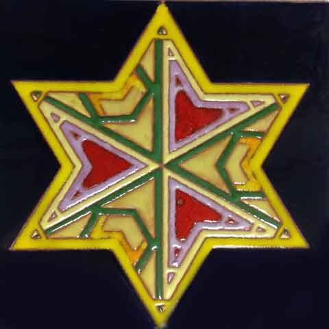 synnetry tile. This tile is hidden secrets. I have hidden the five initials in the six-pointed star. Try to find the initials.「A.A.A.K.M」