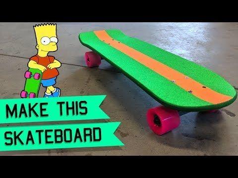 How To Make The Bart Simpson Skateboard Diy Penny Board Trends In 2020 Skateboard Penny Board Bart Simpson
