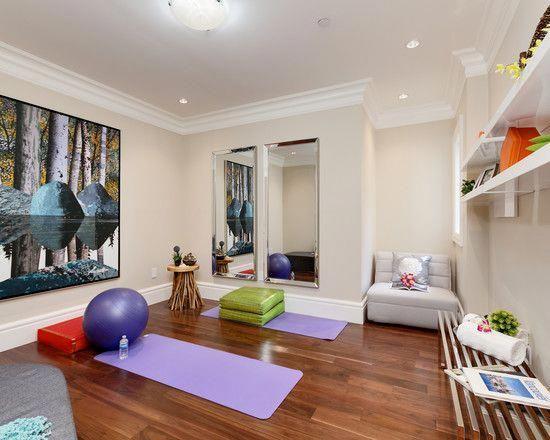 Modern Yoga Studio With Equipments Homefitnessrooms Gym