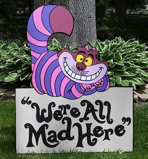 FOAMBOARD CHESHIRE CAT Inspired by Alice by TanglewoodDesigner