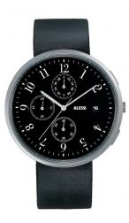 Record Black Chronograph Watch Achille Castiglioni by Alessi Watches | Emmo Home
