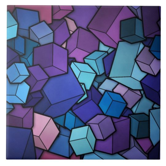 Abstract Cubes Ceramic Tile Zazzle Com Samsung Galaxy Wallpaper Cute Wallpaper For Phone Cube
