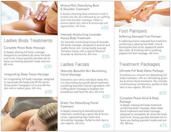 Sundae Beauty Price List 2014/2015