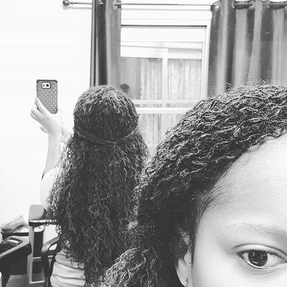 Braid out it is. #sisterlocks #sisterlockconsultant #naturalbeauty #naturalhair…