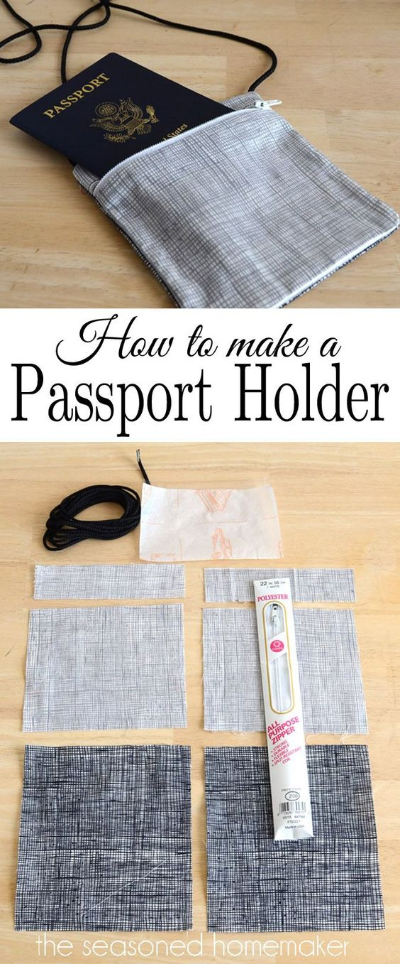 International travel can be a challenge, especially when you have to navigate foreign airports. My best Travel Tip is keeping your Passport handy. I've created a simple Passport Holder with a lanyard so you can quickly get through airport security and on to your destination.
