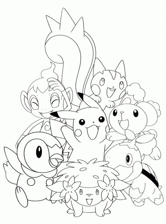 Coloring Page Pokemon Anime For Paint Anime Coloring Paint
