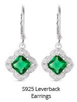 S925 Leverback Earrings
