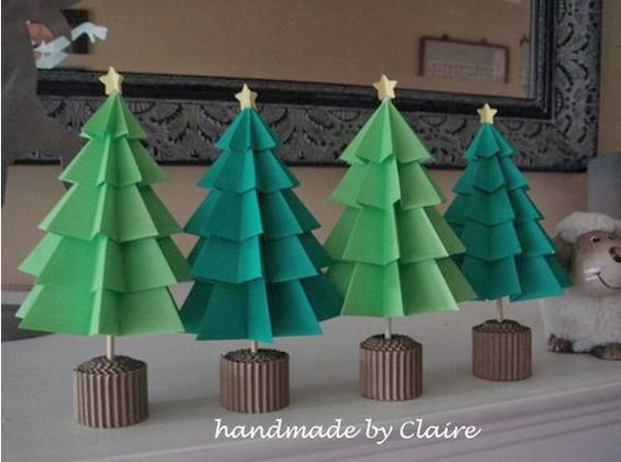 Arbol de navidad de papel navidad pinterest navidad - Hacer arbol navidad ...