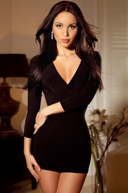 cute little black dress - style - Pinterest - Sexy- Girls and ...