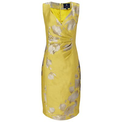 Ariella Bethan Jacquard Short Dress, Yellow