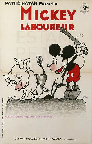 Roger Cartier Film Pathe-Natan Mickey Laboureur  Imp Gaillard | par estampemoderne.fr