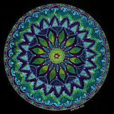 Mandala verde-azul
